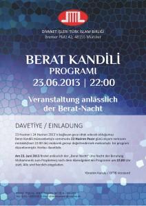 DITIB Münster Berat Kandili Programi 2013